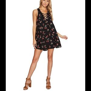 ShowMeYourMumu  Ranchio Mirage Laceup Dress Cherry